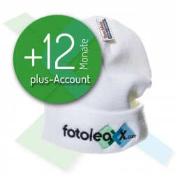 fotoleaxx®-plus-Account +12 Monate inkl. Mütze