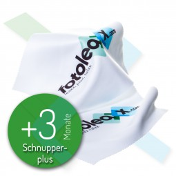 fotoleaxx®-plus-Account +3 Monate - Schnupper-plus inkl. 2 Mikrofasertüchern